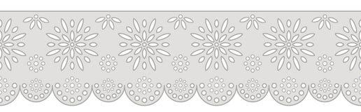 Decoratief ornament voor grens van stof vector illustratie