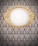 Decoratief ovaal gouden kader Stock Afbeelding