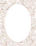 Decoratief ovaal spiraalvormig kader Royalty-vrije Stock Foto