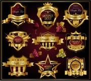 Decoratief overladen schild Royalty-vrije Stock Afbeeldingen