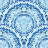 Decoratief Overzees Golven Naadloos Patroon Royalty-vrije Stock Foto