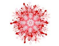 Decoratief Patroon 2 van de Sneeuwvlok Royalty-vrije Stock Afbeeldingen
