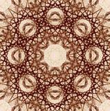 Decoratief patroon, doorweven lijnen, de combinatie fragmenten van beelden Royalty-vrije Stock Fotografie