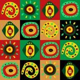 Decoratief patroon met Afrikaanse patronen Royalty-vrije Stock Fotografie