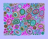 Decoratief patroon op purpere achtergrond royalty-vrije illustratie