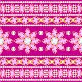 Decoratief patroon van juwelen Royalty-vrije Stock Foto