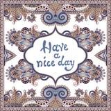 Decoratief patroon van Oekraïens etnisch tapijt Stock Afbeeldingen