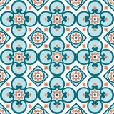 Decoratief patroon voor de achtergrond, de tegel en de textiel stock foto's