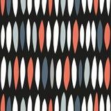 Decoratief patroon voor de achtergrond, de tegel en de textiel Het wordt geassembleerd van modulaire delen Vector naadloos stock illustratie