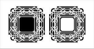 Decoratief patroonkader Stock Afbeelding