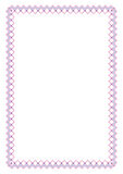 Decoratief rechthoekig kader Royalty-vrije Stock Fotografie