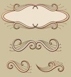 Decoratief rolornamenten en paneel vector illustratie