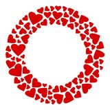 Decoratief rond kader met rode harten Vector illustratie vector illustratie