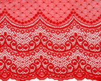 Decoratief rood kant stock afbeeldingen