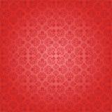 Decoratief rood naadloos behang, vectorillustra Stock Afbeelding