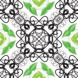 Decoratief sier naadloos de lentepatroon Royalty-vrije Stock Foto's