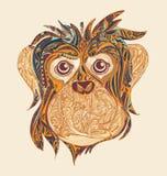 Decoratief sierhoofd van aap Symbool van het Jaar 2016 langs Stock Fotografie