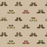 Decoratief sokken naadloos patroon op een beige achtergrond stock illustratie