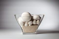 Decoratief stenen en zand in glaswerk Royalty-vrije Stock Foto's