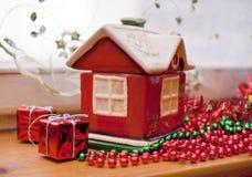 Decoratief stuk speelgoed huis Royalty-vrije Stock Afbeelding