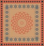 Decoratief tapijtpatroon Royalty-vrije Stock Foto