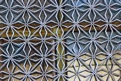 Decoratief traliewerk op het venster Royalty-vrije Stock Afbeeldingen