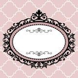 Decoratief uitstekend frame Stock Afbeeldingen