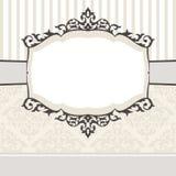 Decoratief uitstekend frame Royalty-vrije Stock Afbeeldingen