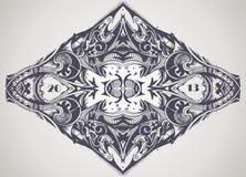 Decoratief uitstekend patroon. Royalty-vrije Stock Foto's