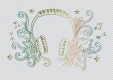 Decoratief van Hoofdtelefoon Royalty-vrije Illustratie