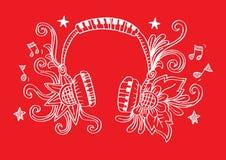 Decoratief van Hoofdtelefoon Vector Illustratie