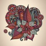 Decoratief vector bloemen uitstekend kaartontwerp Royalty-vrije Stock Fotografie