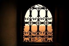 Decoratief venster royalty-vrije stock afbeeldingen