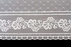 Decoratief wit kant stock afbeeldingen