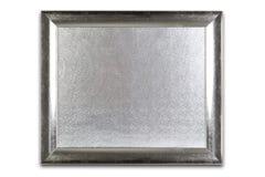 Decoratief zilveren die kader op wit wordt geïsoleerd Zilveren patroon insid Stock Fotografie
