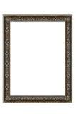 Decoratief Zilveren Ovaal Frame Stock Foto's