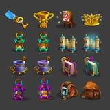 Decoratiepictogrammen voor spelen stock illustratie