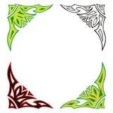 Decoratieve abstracte hoeken Royalty-vrije Stock Afbeeldingen