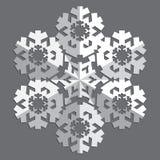 Decoratieve abstracte sneeuwvlok Stock Afbeelding