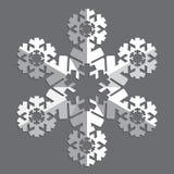 Decoratieve abstracte sneeuwvlok Royalty-vrije Stock Fotografie