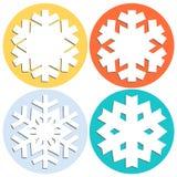 Decoratieve abstracte sneeuwvlok Royalty-vrije Stock Foto