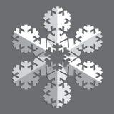 Decoratieve abstracte sneeuwvlok Royalty-vrije Stock Afbeelding