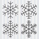 Decoratieve abstracte sneeuwvlok Stock Foto's