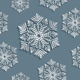 Decoratieve abstracte sneeuwvlok naadloos Stock Afbeelding
