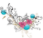 Decoratieve achtergrond Stock Afbeeldingen