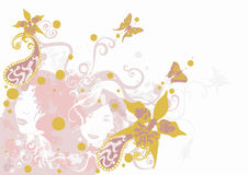 Decoratieve achtergrond Royalty-vrije Stock Afbeelding