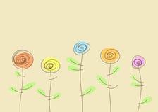 Decoratieve achtergrond met bloemen stock illustratie