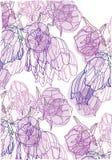 Decoratieve achtergrond met gevoelige purpere tulpen Royalty-vrije Stock Foto's