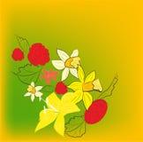 Decoratieve achtergrond met heel wat bloemen stock illustratie