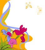 Decoratieve achtergrond met iris vector illustratie